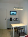2-Zimmer Apartment / small room, view B (coffee corner and TV set)